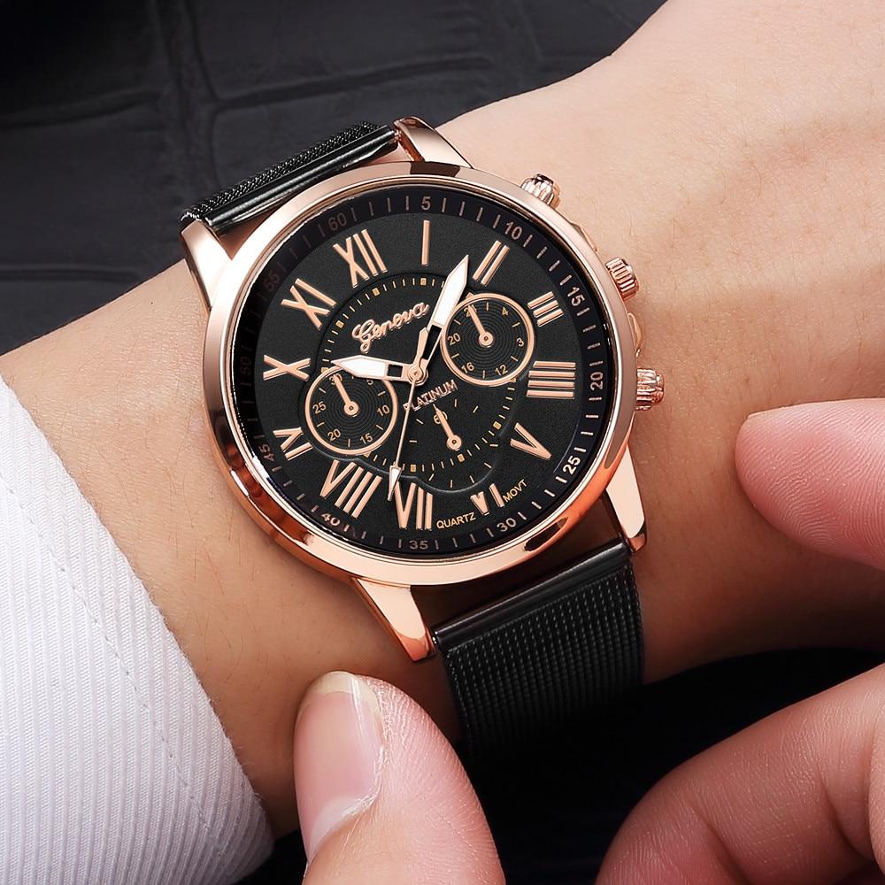 Man Watch Luxury Fashion Stainless Steel Analog Quartz Bracelet Wrist Gift relojes para hombre Watches Mens 2019 zegarek damski