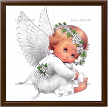 New 100% DIY 5D Diamond Painting baby angel Cross Stitch Needlework Mosaic 3D crystal Embroidery home decoration