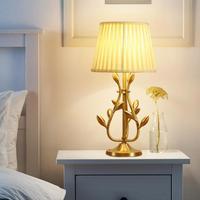 Золотой свадебный стол настольная лампа бра лампа прикроватная настольная лампа гостиная бронзовая романтическая офисная Светодиодная ла