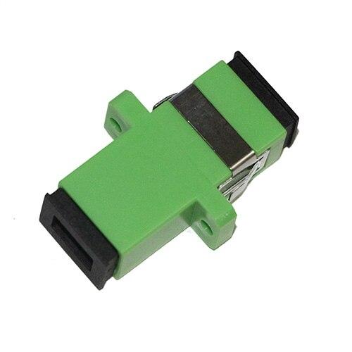 400 Pieces SC APC Fiber Optical Adapter SM Single Mode Simplex for Fiber Patch Cord Fiber
