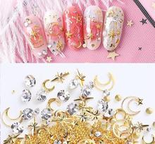 30Type Mixed Nail Diamond box[Nail Art/Nail Diamond/Metal Studs/3D Art Crystal Decoration Rhinestones Glitter