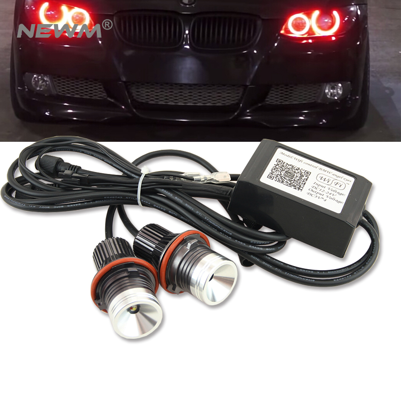 Новые!!! 2017 Новая модернизированная Е39 беспроводной светодиодный маркер для BMW, пульт дистанционного управления изменение цвета глаза Ангела штепсельной вилки 24w и играй без предупреждения
