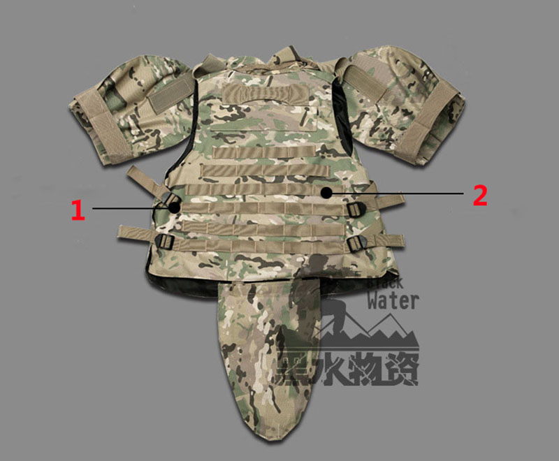 OTV Tactical Vest Camouflage Fight Body Armor With Pouch / Pad ACU - Sikkerhed og beskyttelse - Foto 5