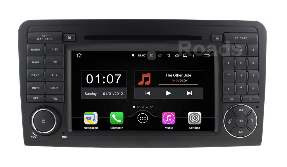 2 Din Android 5 1 1 Car DVD Player for Mercedes Benz ML GL class W164