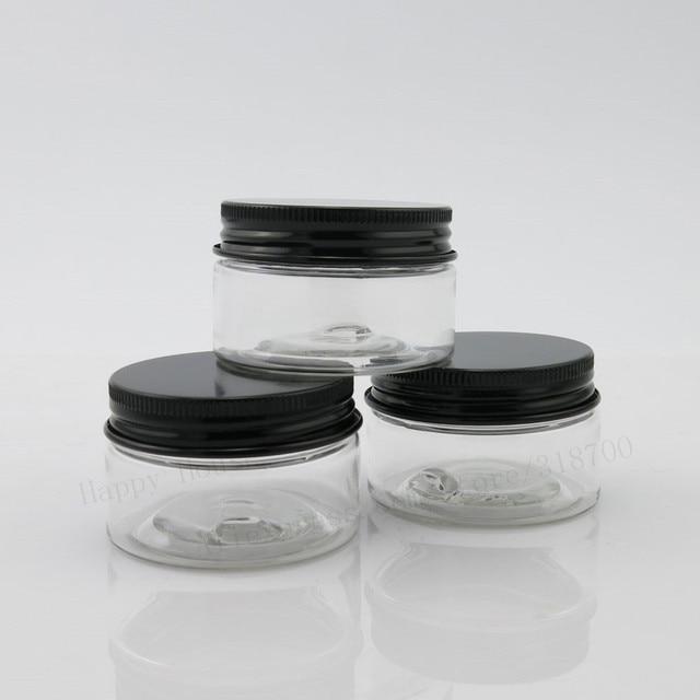 60pcslot 30g Empty Pet Plastic Jars With Aluminum Black Lids 1oz