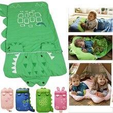 Спальный мешок для маленьких детей с изображением животных; 140 х 60; стеганый спальный мешок на осень и зиму сохраняет тепло и предотвращает ушибы
