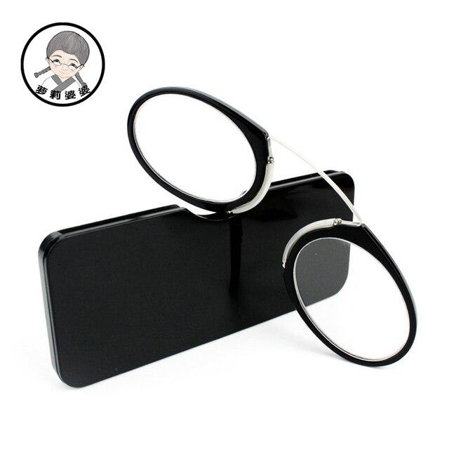 Pince-nez Full Frame Reading Glasses TR90 Portable Nose Men Women Presbyopic Glasses +1.0 +1.5 +2.0 +2.5 +3.0 +3.5