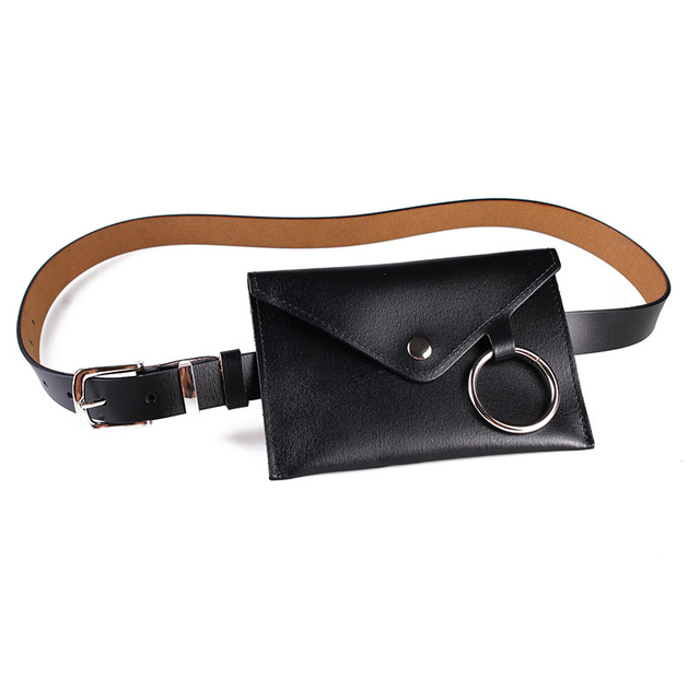 CCRXRQ Promotions Women Waist Bags Fanny Pack Handy Belt Bags Fashion PU Leather Solid Color Bum Bag Small Purse Lock Decoration