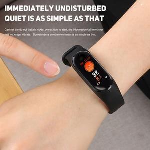 Image 2 - ! ACCEZZ חכם להקת צמיד לxiaomi לחץ דם מדידה צבעוני מסך M3 ספורט צמיד כושר Tracker עבור אנדרואיד