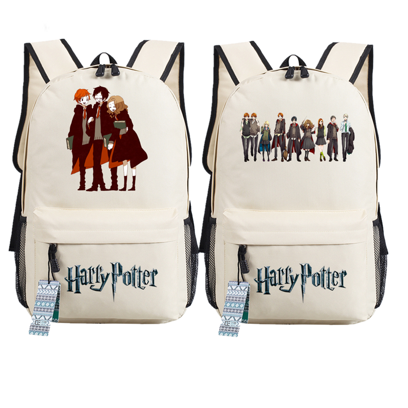 New Magical Harry Potter Hermione Printing Backpack Mochila Feminina Canvas School Bags Cartoon Backpacks for Teenage Girls велком кальяри колбаса сырокопченая 235 г