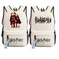 New Magical Harry Potter Hermione Printing Backpack Mochila Feminina Canvas School Bags Cartoon Backpacks For Teenage