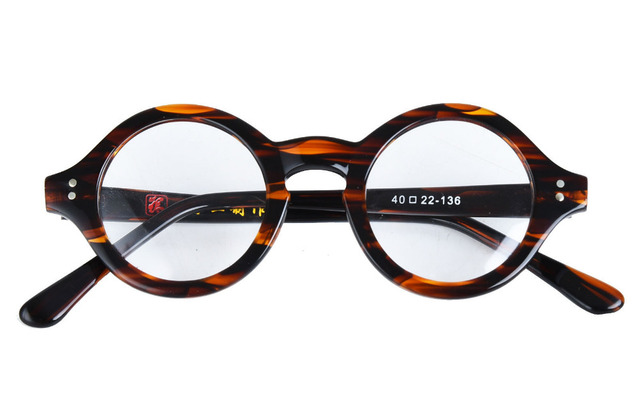 219d0d5345 Vintage Small Round 38mm HANDMADE Optical Glasses Tortoise Eyeglasses  Frames Rx able 292