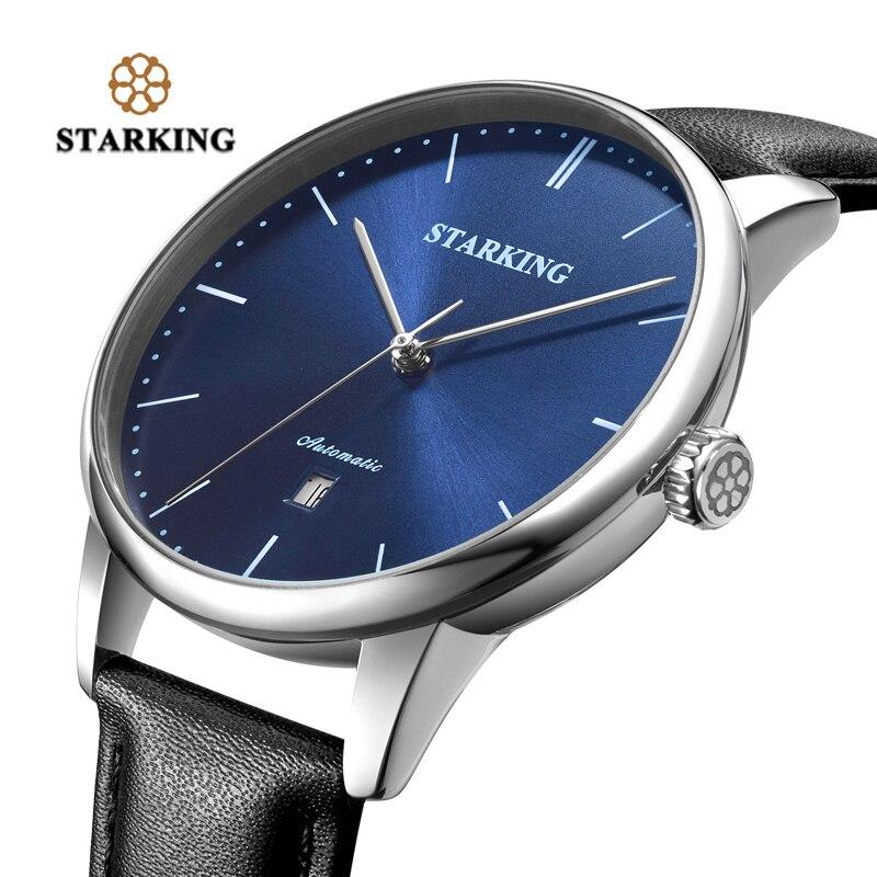 STARKING marque de luxe pas cher montre mécanique automatique Date automatique Auto-vent mâle horloge 28800 haute battre montre Relogio Sport TM0915 - 3