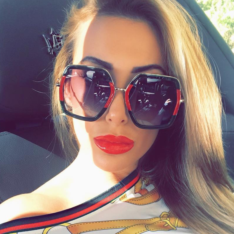 f159d84bcf QPeClou 2018 New Hot Square Sunglasses Women Brand Double Colors Sun  Glasses Female No Logo Oculos Men Shades Unisex Eyewear -in Sunglasses from  Apparel ...