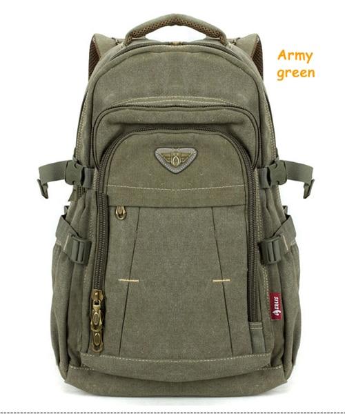 Man's Canvas Backpack Travel Schoolbag Male Backpack Men Large Capacity Rucksack Shoulder School Bag Mochila Escolar 3