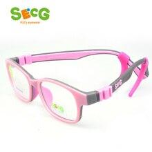 SECG Crianças Ópticos Óculos de Armação TR90 Óculos para Crianças Crianças  Óculos De Dioptria Óculos de Proteção Flexível de Bor. 7b36c26cad