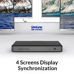 Image 2 - Divisor hd mi unnlink 1 x4 uhd4k @ 30hz, hd mi 1 em 4 para led smart tv monitor projetor mi box3 ps4 xbox one, computador
