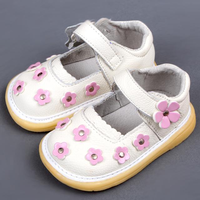 Niñas Mary Jane Zapatos de bebé Zapatos de La Princesa con La Flor Del Bebé Niños Zapatos Planos Ocasionales de Los Niños Zapatos Niño Calzado
