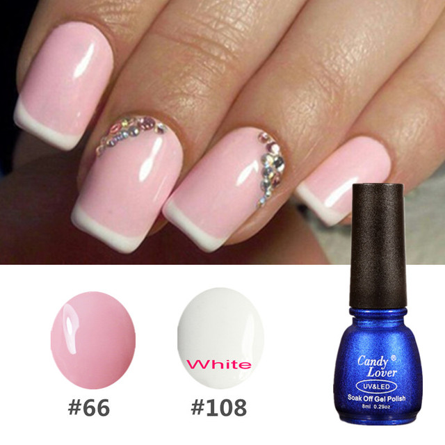 Candy Lover Diy French Manicure Gel Polish Color Nail Decals Nail