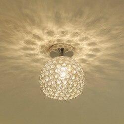 Okrągły salon oświetlenie sufitowe Led nowoczesne proste kreatywny aluminium K9 kryształ przejściach i korytarzach korytarz badania sypialnią na poddaszu