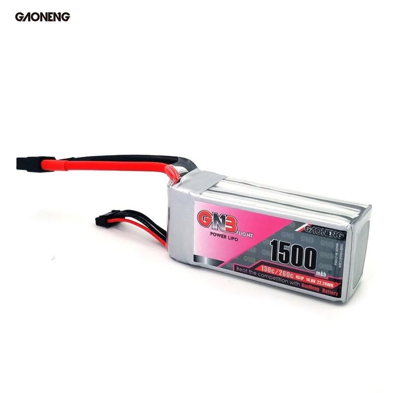 Gaoneng GNB 14.8V 1500MAH 130C/260C 4S Lipo Battery XT60 Plug For RC Drone