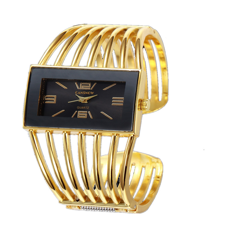 Big Face Gold Silver Bangle Watch Women Elegant Brand Analog Quartz Watch Ladies Watches Reloje Mujer Montre Bracelet Femme 2018 fashionable analog quartz bracelet watch for women purple silver 1 x lr626