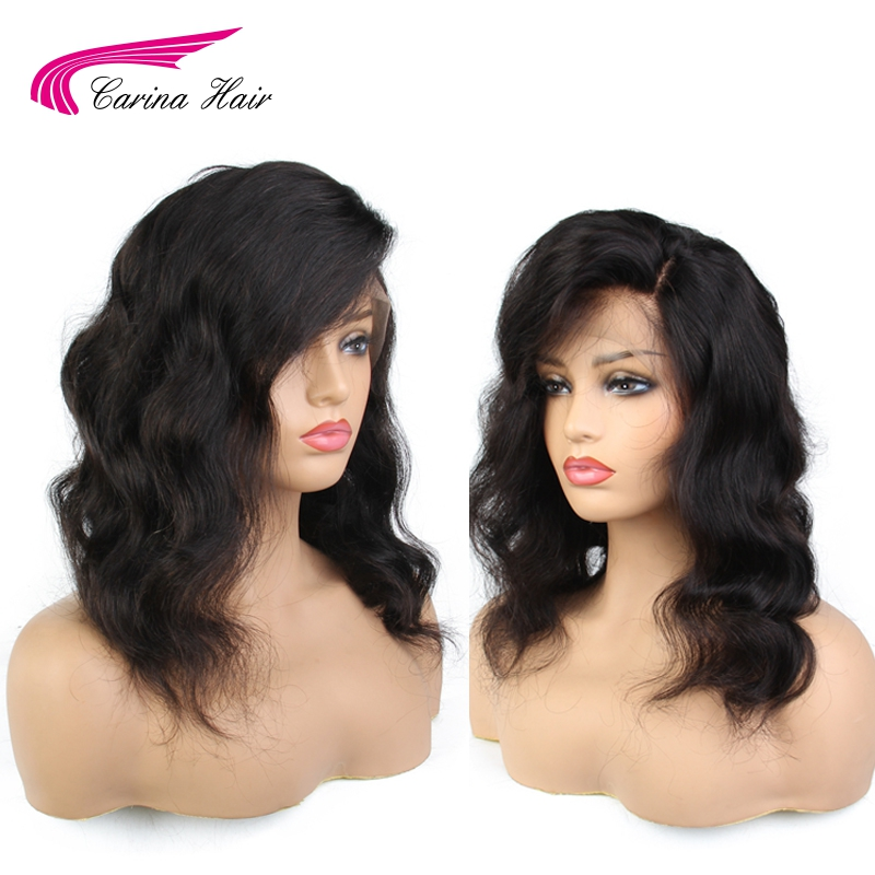 Carina Brazilian Body Wave Lace Front Wigs with Baby Hair 130% Density Remy Human Hair Wigs Pre Plucked Hairline Bleached Knots