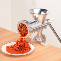 Stainless Steel Portable Multi Manual Meat Grinder Cutter Mini Sausage Filling Maker Machine Blenders Kitchen Aids