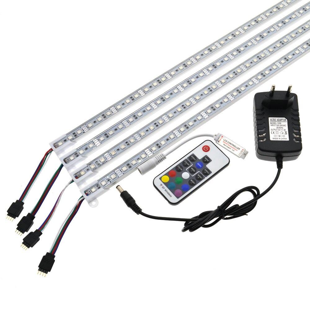 LED Bar Light 5050 RGB 50cm IP68 SMD36LED LED Rigid Strip Swimming Pool DC 12V with Switch Power Adapter