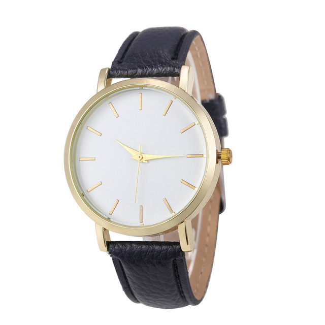 New Fabulous Luxury Quartz Watch Men Women Famous Brand Gold Leather Band Wrist