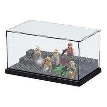sermoido Building Block Figures Transparent Display Box For collection Bricks DIY Toys Compatible legoeds figure Christmas Gift