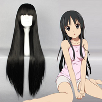 K ON! Cosplay Wigs Akiyama Mio Cosplay Wigs Heat Resistant Synthetic Anime Cosplay Wig Halloween Carnival Party Cosplay Wigs