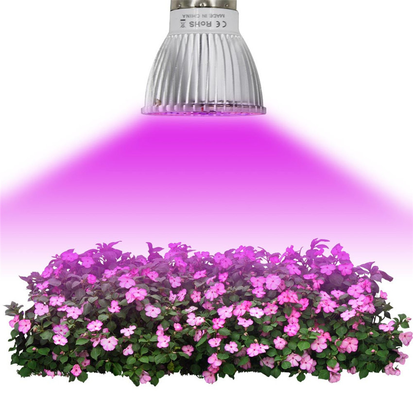 2018 4W E27 E14 GU10 28-LED Grow Light Veg Flower Indoor Plant Hydroponics Full Spectrum Lamp protable garden tools #0527