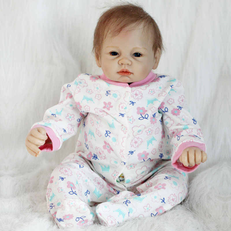 Bonecas de Silicone de Vinil Boneca Reborn 22 polegada Macio 55 cm Bebê Recém-nascido Boneca Bebe Reborn Lifelike Bonecas Reborn Silicone Macio
