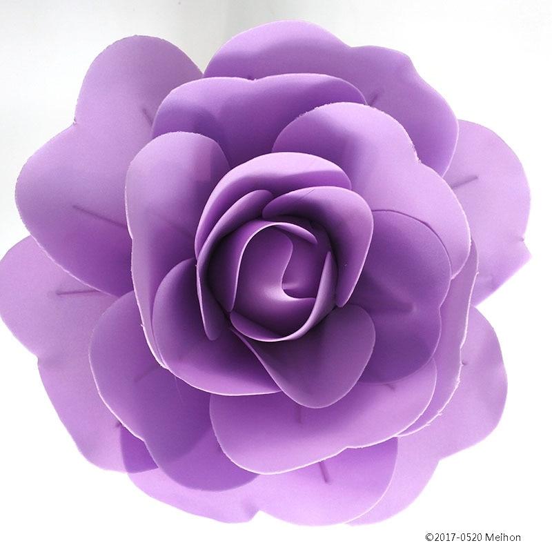 Grandes flores falsas de espuma Rosas artificiales Conjunto de estilo - Para fiestas y celebraciones - foto 4