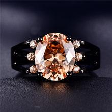 Estábamos hombre rojo/rosa/púrpura AAA CZ anillo Punk ancho anillo para mujeres y hombres, oro negro boda Vintage par de anillos joyería