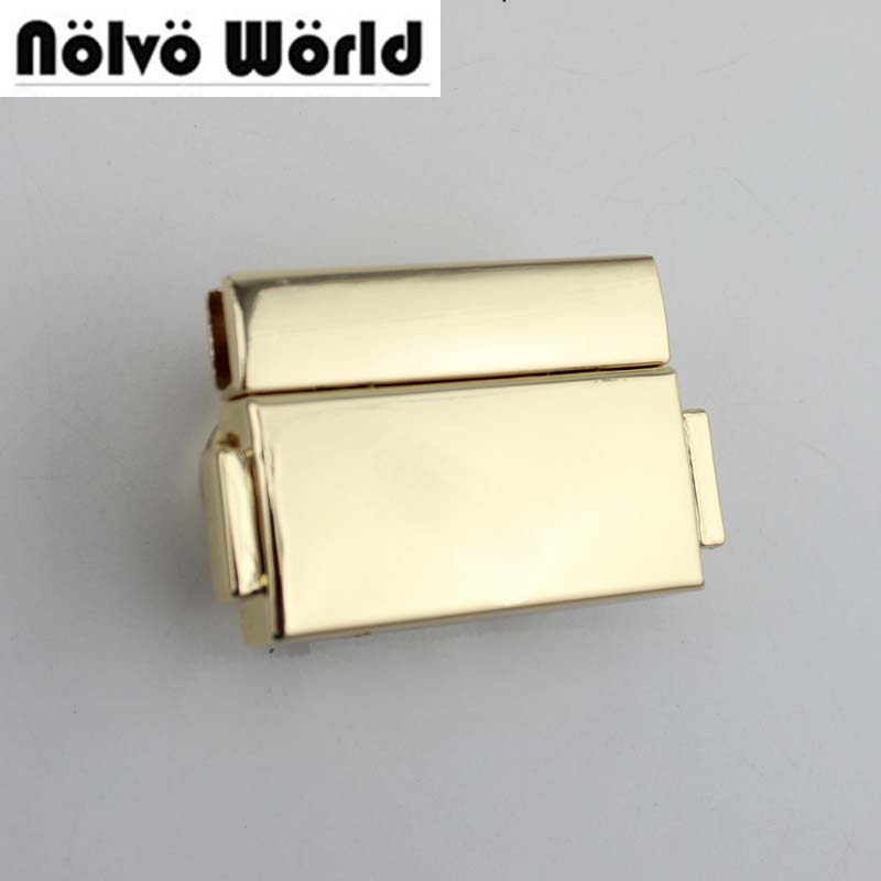 10sets/lot 50*32mm Light Gold Tone Metal Bag Pressed Lock,alloy Lock Metal Bag Buckle,professional Bag Hardware Accessories