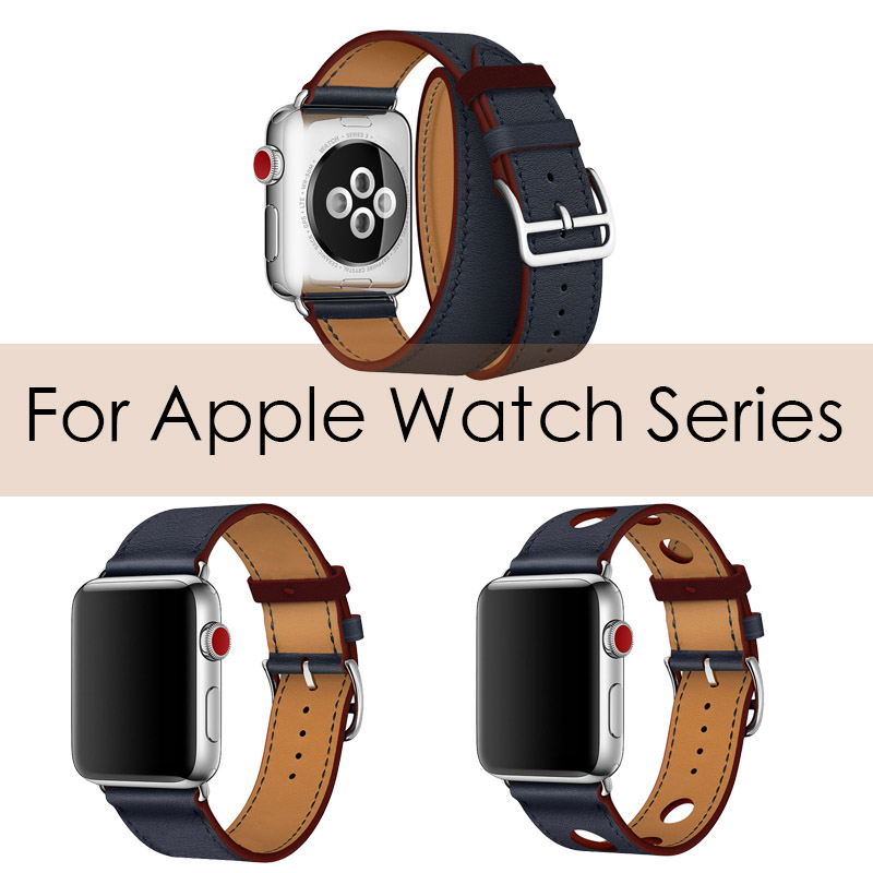 Newest Office Leather Strap For Apple Series Genuine Leather Bracelet herm Wrist Band For Apple Watch 1 2 3 4 Watchband 38-42mm цена
