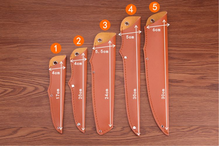 PU Faux Leather Universal Knife Sheath Family Portable Fruit Knife Multi purpose Knife Knife Cover in Knives from Tools