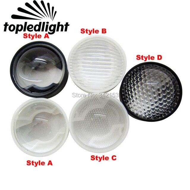 Topledlight 4 estilo 23mm 60 grados lente Led de 1 W 3 W 5 W Led de alta potencia lámpara de emisor de luz 20 unids/lote