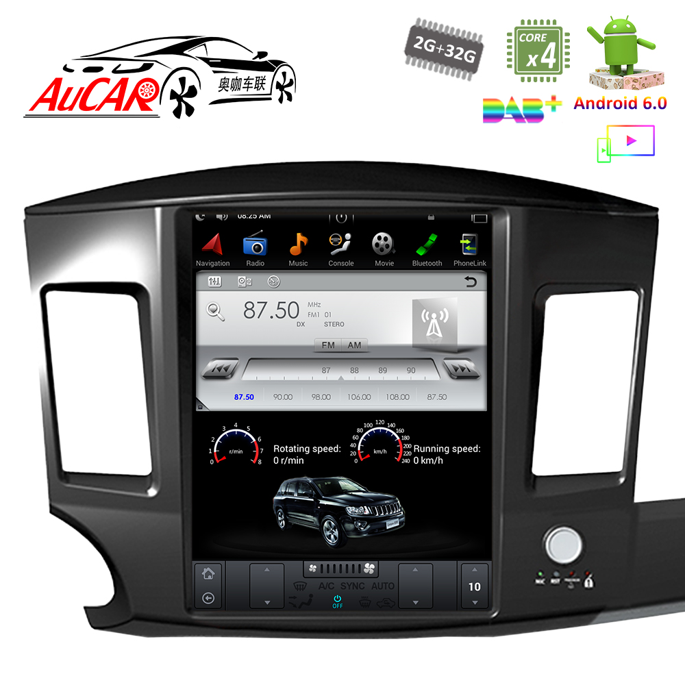 Android Tesla Style 12.1 dvd for Mitsubishi Lancer car gps navigation 2010 2015 Bluetooth GPS Radio WIFI 4G Vertical Stereo