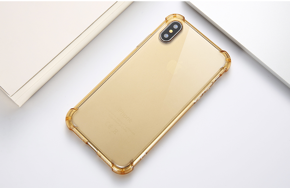 Anti-knock Clear Silicon Shockproof Cover with TPU iPhone Case 16