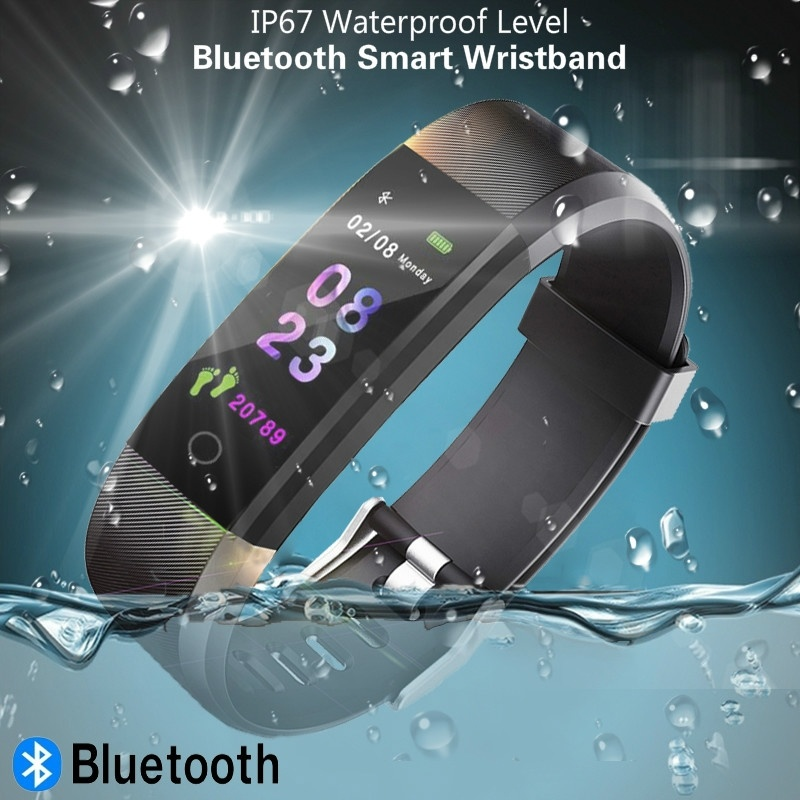 Smart Watch Sports Fitness Activity Heart Rate Tracker Blood Pressure IP67 Waterproof Pedometer SmartWatch for IOS Android