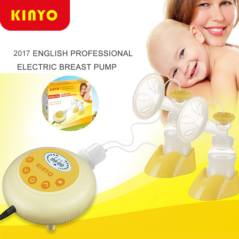 2017 New Kinyo Double Electric Breast Pump Baby Milk Double-core Bottle Silent Automatic Double Sides Nursing Breast Pumps manka care 110v 220v ac 50l min 165w small electric piston vacuum pump silent pumps oil less oil free compressing pump