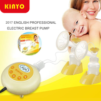 2015 New KinYo Double Electric Breast Pump Baby Milk Double Core Bottle Silent Automatic Avent Double