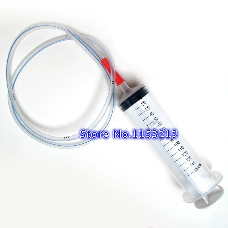 100МЛ / 150МЛ шприце за једнократну употребу велике величине са 1 метар силиконске цеви Пластичне шприце Енема / Феедер Алат за пуњење мастила