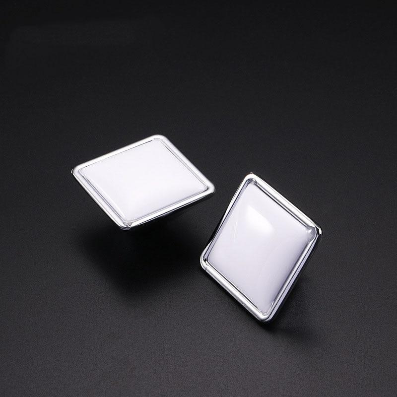 MEGAIRON 1pc Square Zinc Alloy Door Knob White Wardrobe Cabinet Kitchen Knobs Drawer Pull Handle