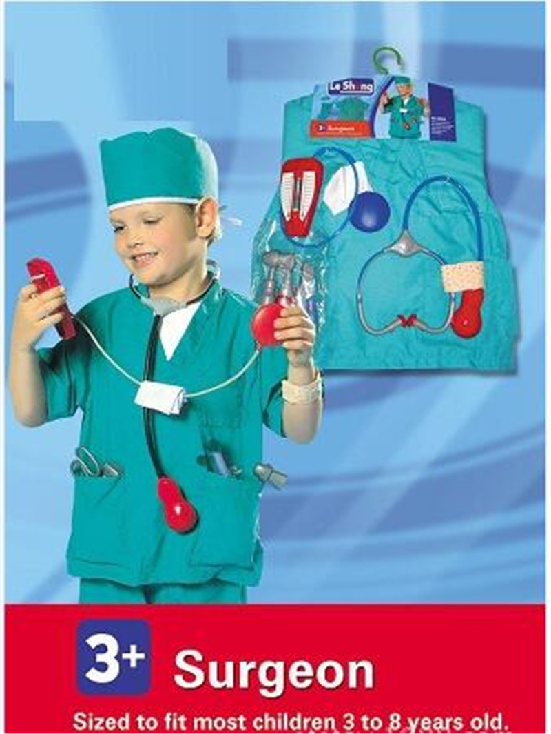 Takerlama Children Kid Girl Boy Surgeon Sets Doctor Cosplay Stage Wear Clothing Party Clothes Kids Halloween Costumes