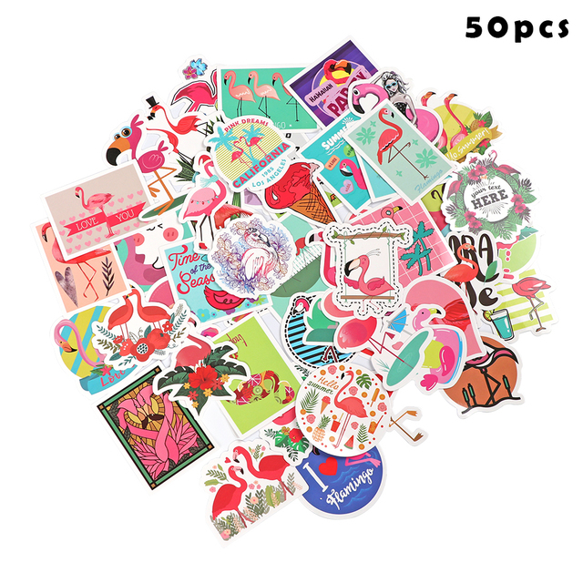 50pcsset Cute Self Adhesive Diy Craft Photo Laptop Vinyl Scrapbook