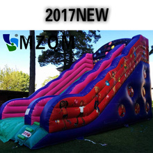 2017 New style MZQM commercial inflatable slide size L12XW6XH6m free blower